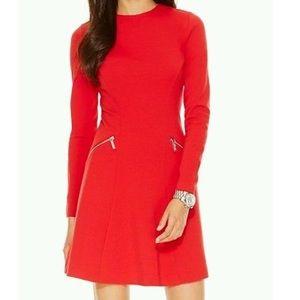 Michael Kors Womens Ponte Long Sleeves Dress